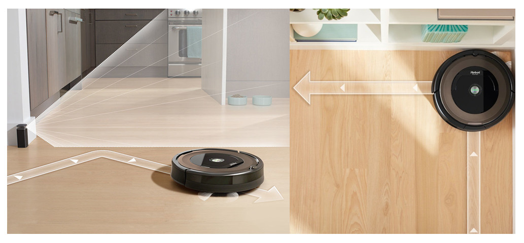 Roomba 860 and 890 working line