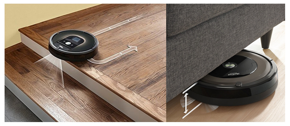 Roomba for stairs and height