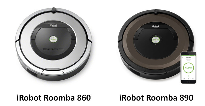 iRobot Roomba 860 and 890
